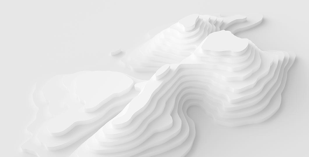 Strange 3D Map Landscape